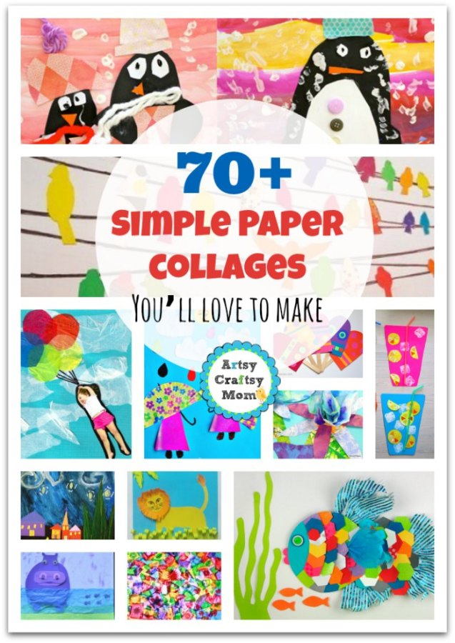 Simple Paper Chick Craft: 20+ Simple Paper Collage Ideas For Kids