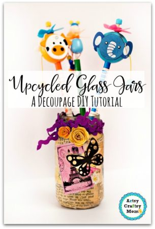 How to Upcycle Glass Jars – Decoupage DIY Tutorial