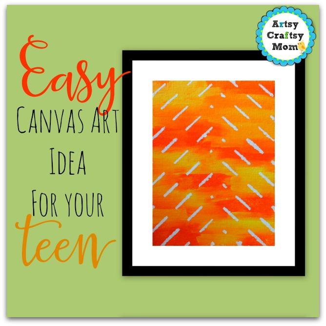 easy canvas art idea for teens