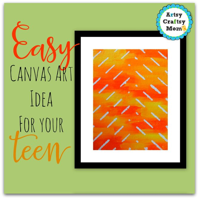 easy canvas art idea for teens