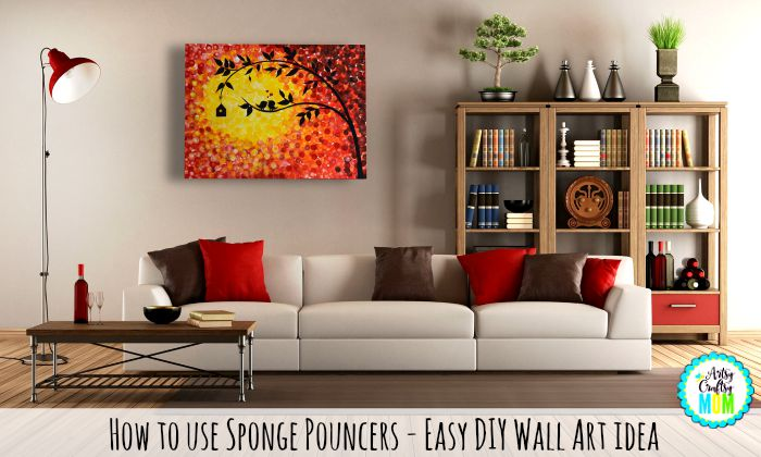 how to use sponge pouncers easy diy wall art idea artsy craftsy mom
