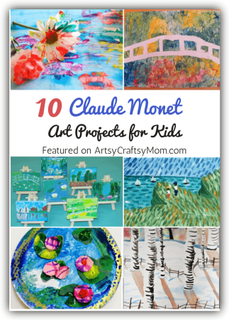 Claude Monet art projects for kids