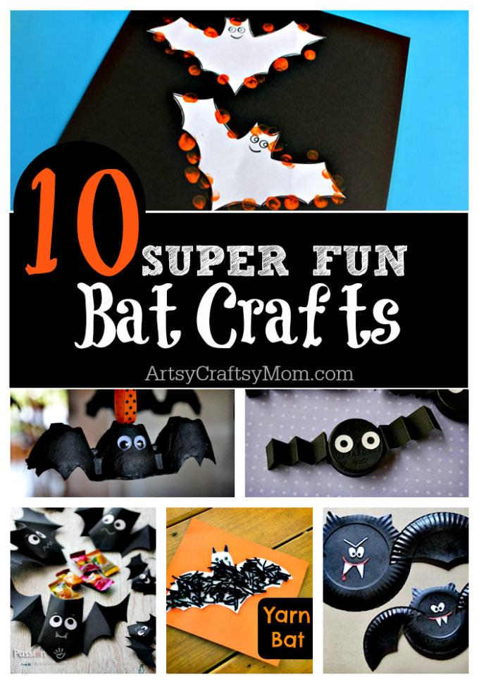 10 easy halloween bat crafts for kids - Halloween Pictures Bats