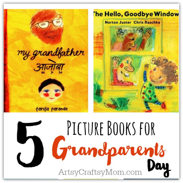 Pick up one of these 5 Picture Books for Grandparents Day  to read with your grand kids + Fun activities & Free printable I love Grandpa / Grandma letter