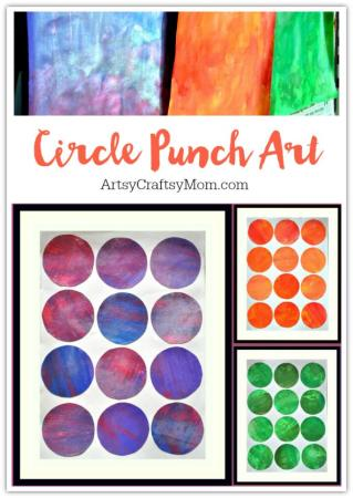 Easy Circle Punch Art for kids