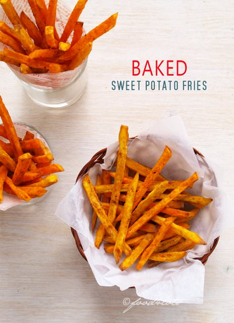 Sweet-Potato-Fries -Is your kid a picky eater? Try these 15 Recipes That Will Make Your Kids Love Vegetables again. Fun finger foods in an all new healthy vegetarian avatar. Pasta, kebabs, fries. perfect for school lunches