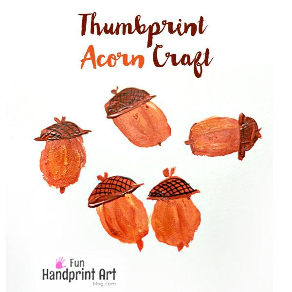 Thumbprint Acorn Craft for kids