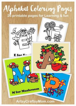 Free Alphabet Letters Coloring Pages