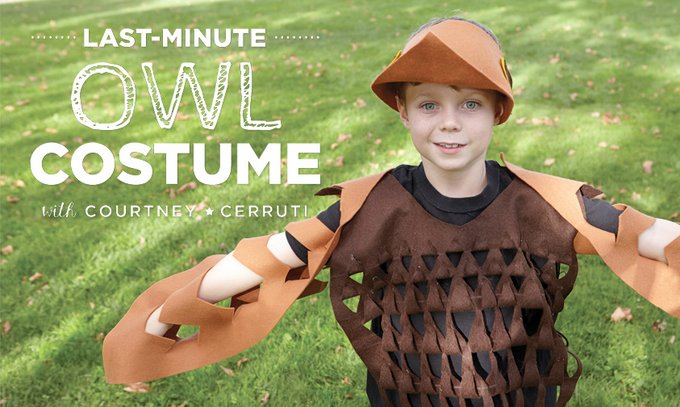 21 creative and easy last minute halloween costumes for kids last minute halloween owl costume try these 21 last minute halloween costume ideas that solutioingenieria Image collections
