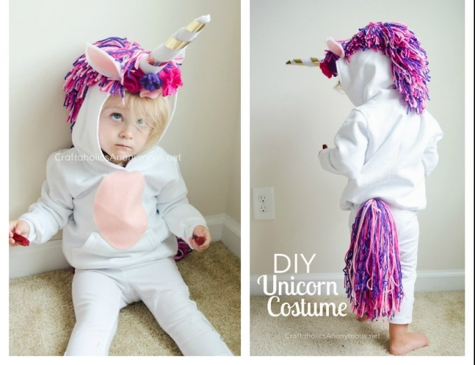 Unicorn-Costume-DIY-collage - Try these 21+ Last minute Halloween costume ideas that are both creative and easy and you can pull off in less than one hour. Minions, bandits, dolls and more