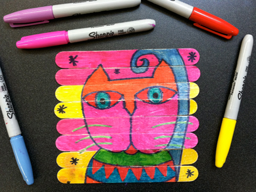 cat art laurel birch - October 29th is National Cat day - Sharing our favorite 21 Cat - themed craft activities & books. Free Printable, Art and craft activities and loads of books