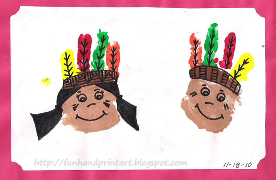handprint native americans craft