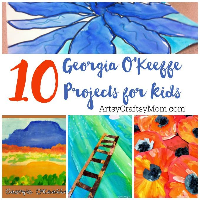 O'Keeffe's paintings make great inspiration for kids' art projects, so let's check out 10 of the best Georgia O'Keeffe projects for kids!