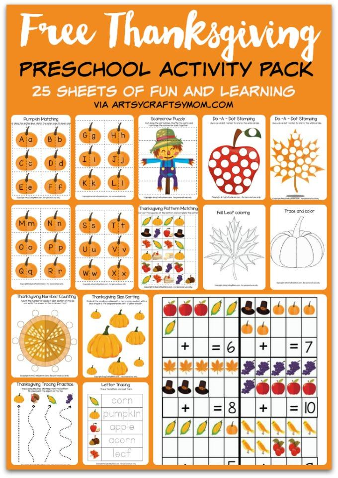 Fall Printables These Math And Literacy For PreK Kindergarten Are Great