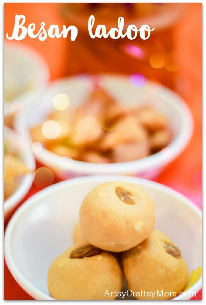 besan ladoo - 4 Easy & Quick Diwali Sweet Recipes- Make quick Diwali Sweets Recipes like Nariyal ladoo, besan ladoo, Instant Kalakand and Shankarpali. Perfect for conversations, laughter and family time.