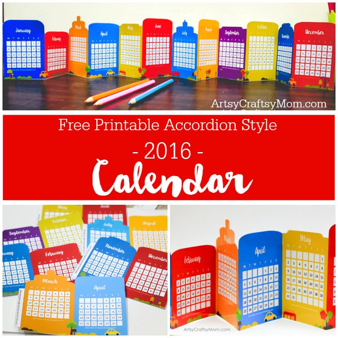 Free printable2016 calendar001
