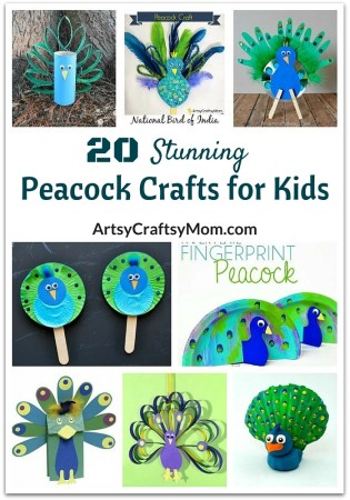 20 Stunning Peacock Crafts for Kids