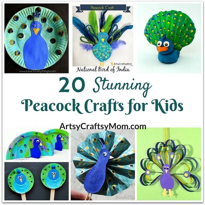 20 Stunning Peacock Crafts For Kids Artsy Craftsy Mom