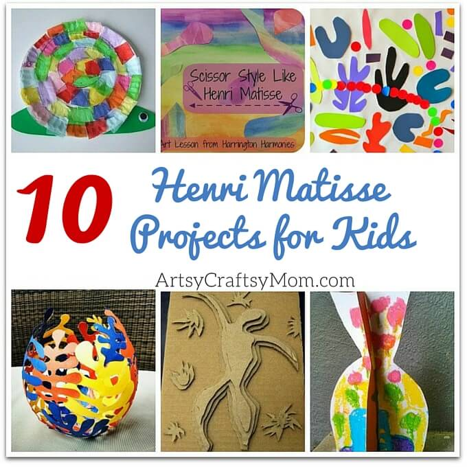 Top 10 Henri Matisse Projects for Kids - Art projects for elementary school. Paper collage, art appreciation& other projects to explore with kids