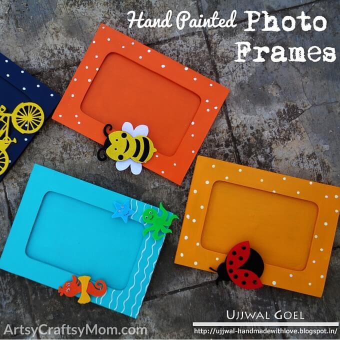 Everyone loves gifts, especially when they're handmade! This Valentine's try out a lovely hand painted photo frame for your loved ones and friends!