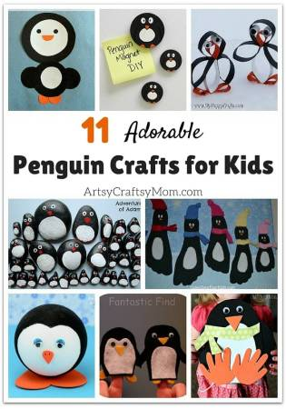 11 Adorable Penguin Crafts for Kids