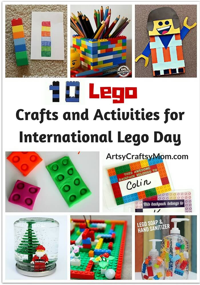 10 lego crafts and activities for international lego day for Lego crafts for kids