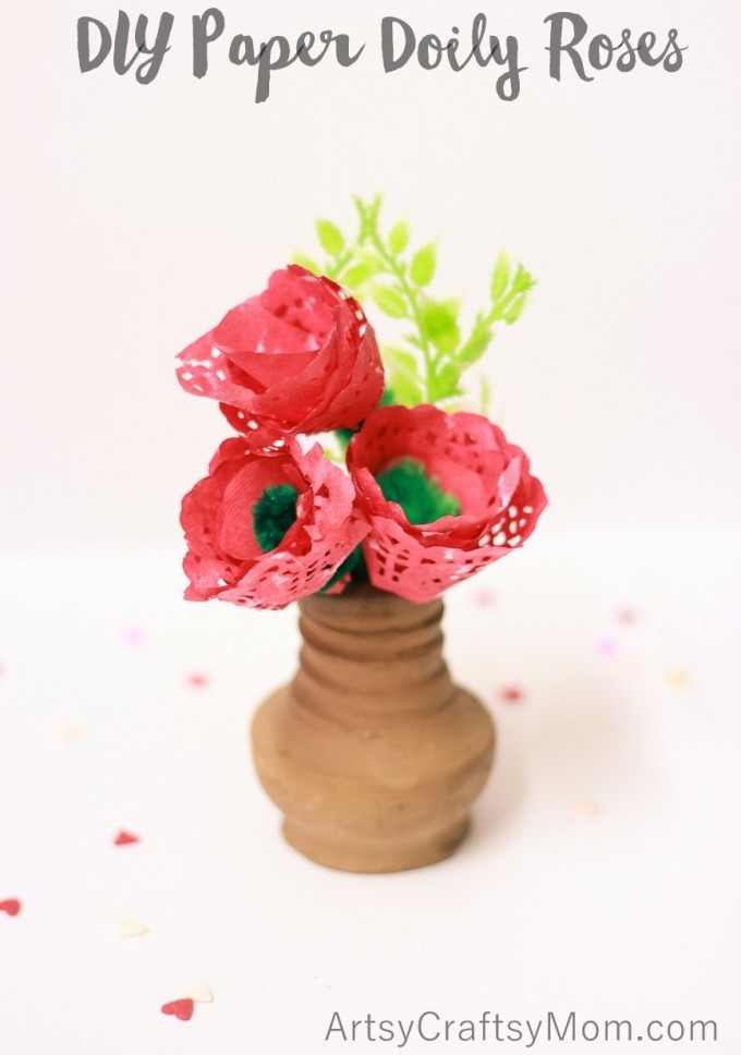 Paper Doily Roses look so pretty and are very easy to create. They also make wonderful Valentine gifts for the special people in your life.