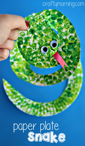 bubble-wrap-paper-plate-snake-craft-