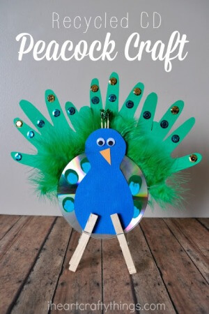 20 stunning peacock crafts for kids artsy craftsy mom for Waste paper craft for kids