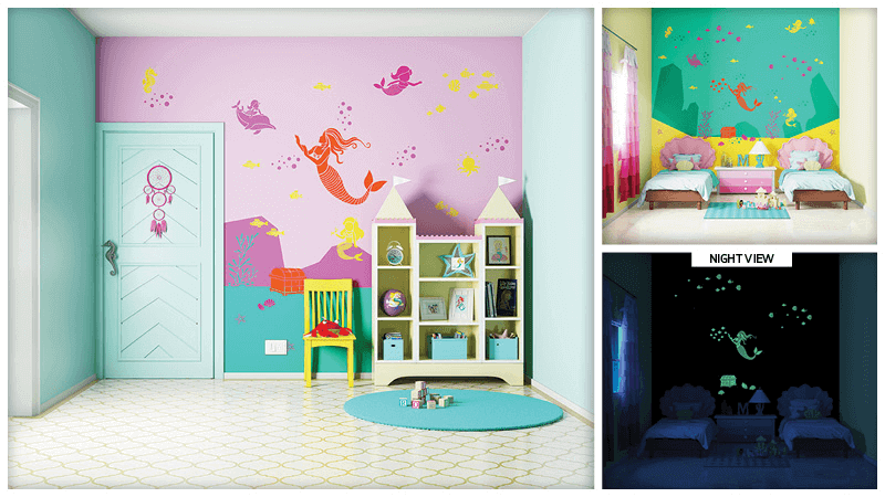 Surprise Wall Makeover with Asian Paints Kids World - we surprised our ocean crazy daughter with a brand new Queen of the Seas theme wall. Read our story.