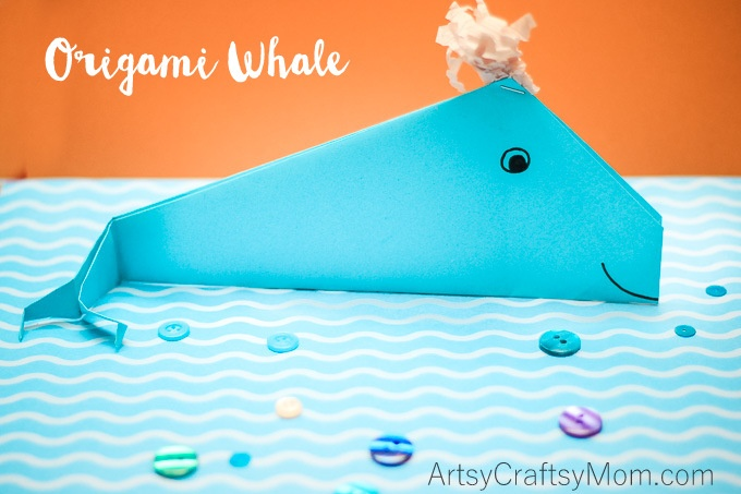 Here's an origami whale that is easy to fold. Make a splash and have a whale of a time with this DIY ocean craft that's perfect for little kids