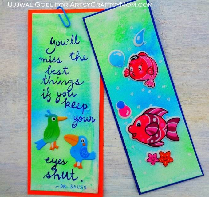 How To Make Bookmarks Part - 29: Easy Watercolor Bookmarks - Colorful Bookmarks Using Simple Watercolor  Techniques And Materials! Easy To Make
