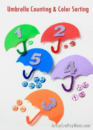 Umbrella Counting & Color Sort – STEM for kids