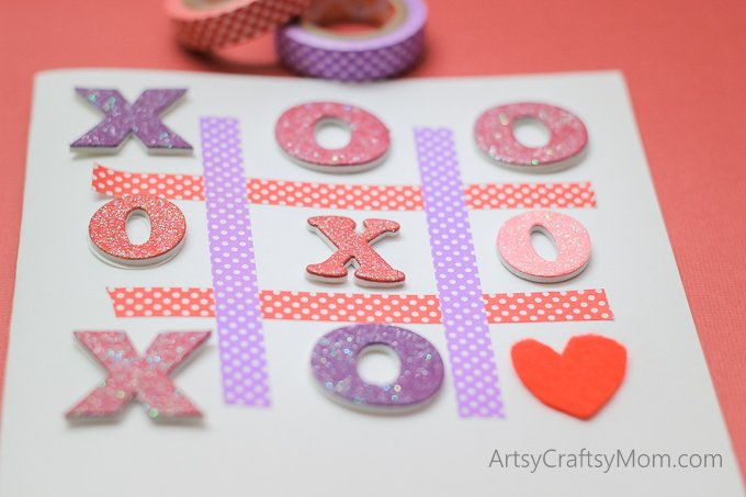 Treat your valentine to a unique handmade Tic-Tac-Toe XOXO Valentine Card with a message Love you forever to make them feel extra special and really loved