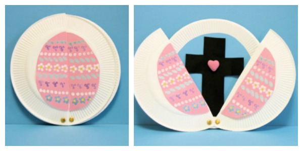 Paper Plate Egg with Cross  sc 1 st  Artsy Craftsy Mom & 12 Adorable Paper Plate Easter Crafts