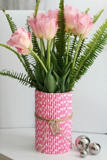 Kerajinan Pot Bunga Dari Sedotan