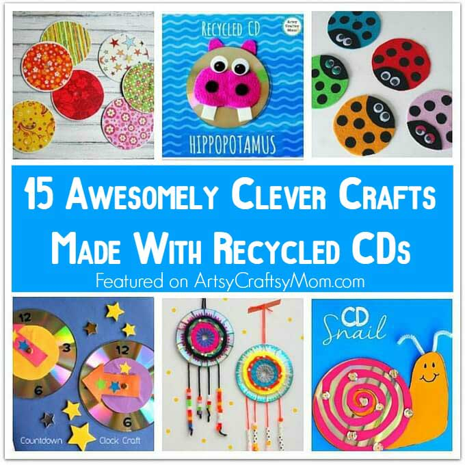 15 Awesomely Clever Crafts made with Recycled CDs-2