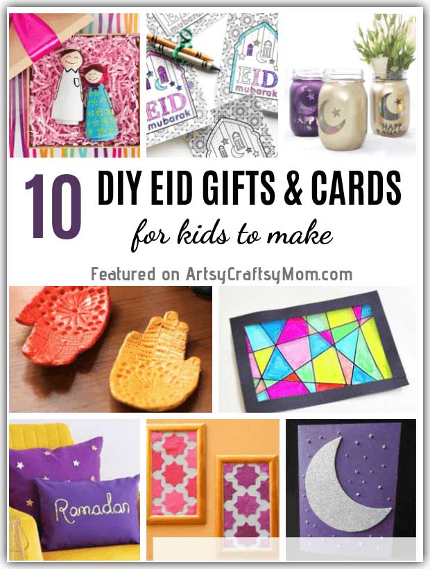 Looking for gift ideas for Eid? Why not make your own, with these DIY Eid Gifts and Cards ideas that are perfect for kids to make and gift their friends!