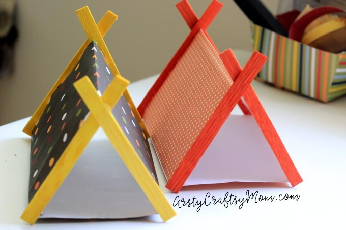 DIY Mini C&ing Set with Sticks and PaperMake c&ing gear for your small toys : paper tent - memphite.com