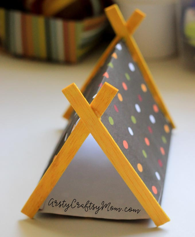 DIY Mini Campsite Craft with Sticks & Paper-7
