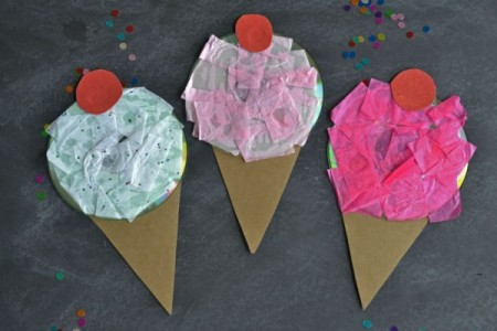Recycled CD Ice Creams