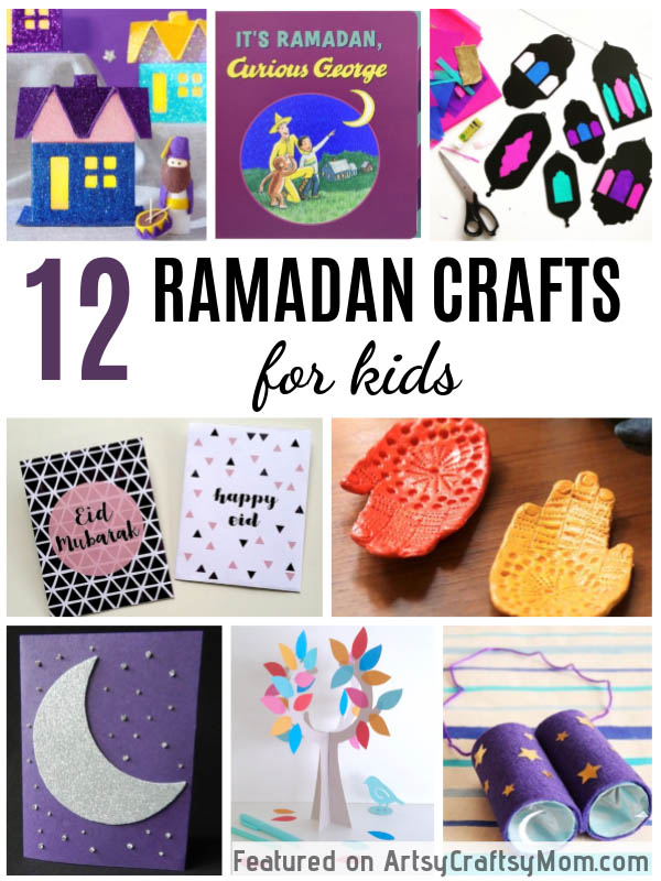 Here are 12 Beautiful Ramadan Crafts and Activities for Kids that will make learning about the importance of this holy Muslim month fun and enjoyable!