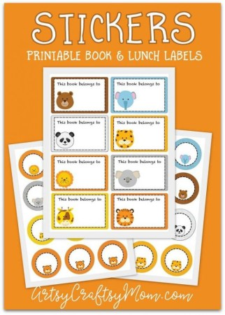 Printable Animal School Labels