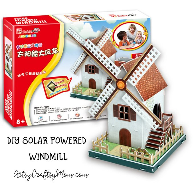 The Solar Powered Windmill is a classic summer craft. This 3D puzzle from Cubicfun helps kids assemble and build a working windmill that harnesses the solar energy into mechanical energy: Awesome STEM Project