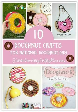 10 Fun Doughnut Crafts for National Doughnut Day