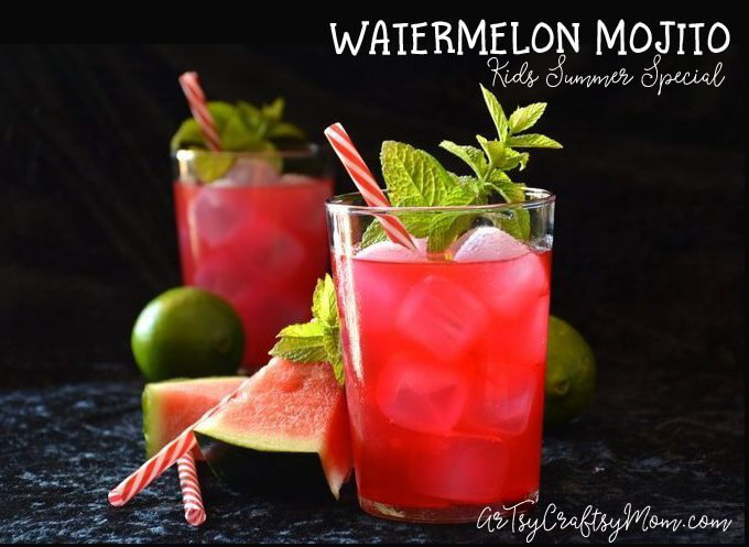If you'd like a refreshing summer drink for the whole family that requires minimal effort, this Watermelon Mojito Recipe is perfect!