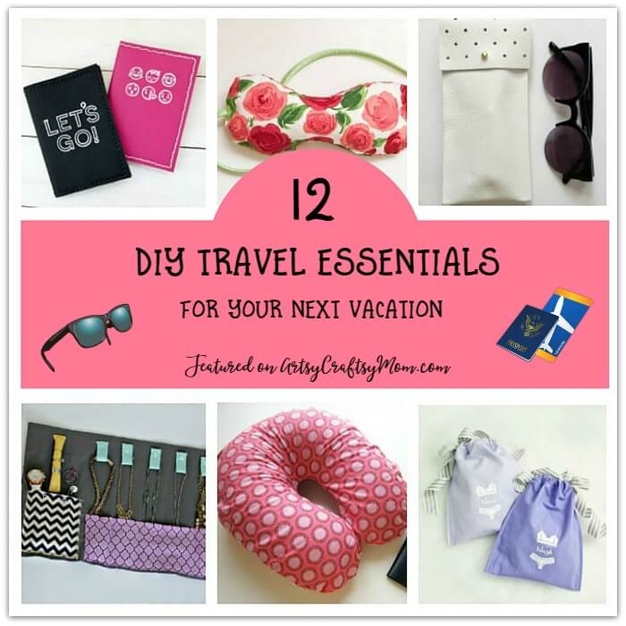 A vacation needs to be comfortable and relaxing, and that's easy when all your needs are taken care of with these easy-to-make DIY travel essentials!