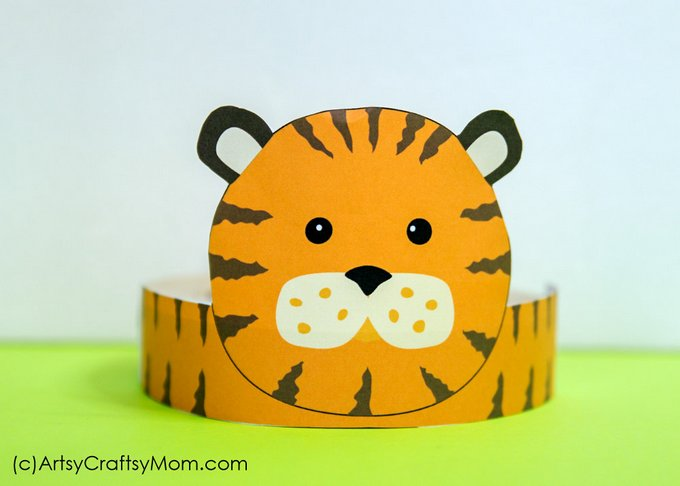 Super 12 Adorable Animal Party Printable Hats For A Jungle Party Home Interior And Landscaping Analalmasignezvosmurscom