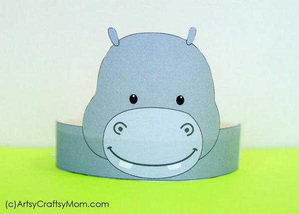 Hippo Crafts for Kids