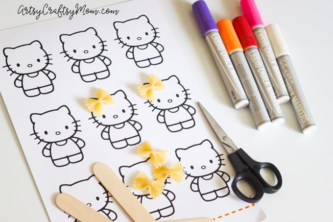 Hello Kitty Craft - Pasta Bookmarks-1